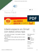 Liberá Espacio en Gmail Con Estos Cinco Tips - SoyTecno