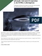 Confira a Explicação Real Para 6 Supostas Aparições de OVNIs e Alienígenas