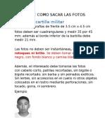 Especificaciones de Las Fotos Cartilla, Titulo y Etc