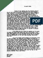 Eric Berne Letter to Henry Simon, 1948-04-08