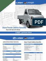 Dura Truck Cabina Sencilla Dos Versiones