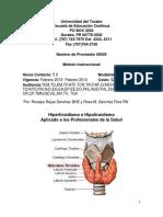 Modulo Hipertiroidismo e Hipotiroidismo