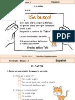 1er Grado - Español - El cartel.pdf