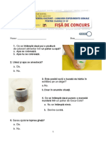 Concurs Experimente Geniale 0-IV Test Barem