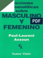 Paul-Laurent Assoun - Lecciones Psicoanalíticas Sobre Masculino y Femenino
