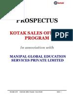 Kso Prospectus