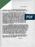Eric Berne Letter to Henry Simon, 1956-07-31