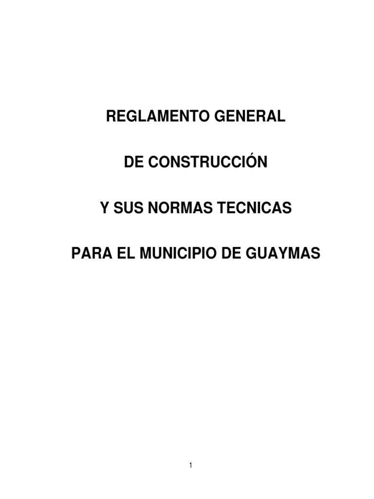 Reglamento de Construccion de Guaymas Sonora