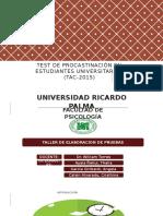 Test de Procastinación en Estudiantes Universitarios TAC-2015