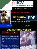 CINEMATICA de UNA PARTICULA (Movimirento Curvilineo) Sesion 3 UCV