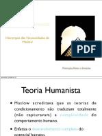 Hierarquia de Maslow e Teoria Dos Dois Fatores (Hezberg)