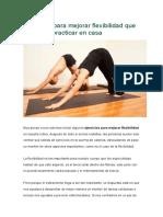 Ejercicios Para Mejorar Flexibilidad Que Podemos Practicar en Casa