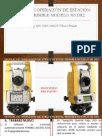 Manual de Operación de Estación Total Trimble Modelo 3m Dr2