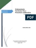 Ordenamiento Territorial, Paz y Procomún Colaborativo