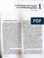 La Psicología Del Lenguaje y La Actividad Lingüística