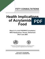 Acrilamida FAOWHO PDF 1