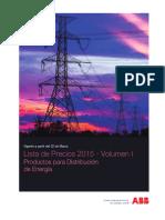 Lista de Precios ABB 2015 - Distribucion de Energía (Rev.01)(Volumen 1).pdf