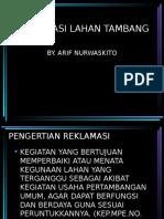 REKLAMASI LAHAN TAMBANG