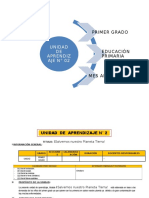 UNIDAD DE APRENDIZAJE N° 02  1° GRADO  ED. PRIMARIA 2016 ABRIL