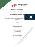 Analisis, Optimizacion de La Produccion, Ventas y Plan de Seguridad Para La Empresa Dnc Sac de La Region Arequipa 2015