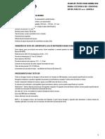 Plano de teste bba injetora 3233F980