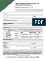 Registration Form - 13th PK Conference 2016