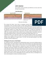 Seismic Study of Earth's Interior