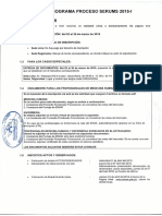 Cronograma Proceso Serums 2015 I