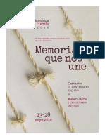 Dossier CAC 2016 Memoria que nos une