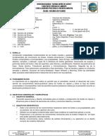 Silabus Mecánica de Fluidos - 2016 I - Ingeniería Ambiental