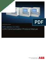 1MRK511305-UEN - En Communication Protocol Manual LON 670 Series 2.0 IEC