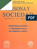 Persona y sociedad Criterios para la descentralización
