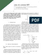 Informe fuente de corriente transistores Mosfet (tipo p)