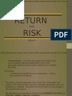 Return&Risk - Final Na to! Pramis.