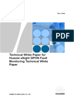 HUAWEI ESight GPON Fault Monitoring Technical White Paper