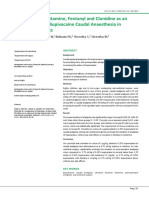 Comparison of Ketamine, Fentanyl and Clonidine as An