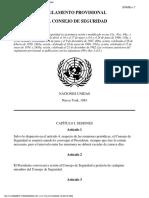 Reglamento Provisional Consejo de Seguridad ONU - N8340020