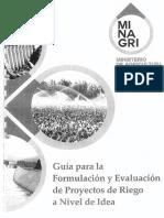 Guía Para Formulación y Evaluación de Proyectos Nivel de Idea