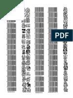 Digimon D-Scanner Version 1 v1 Barcodes
