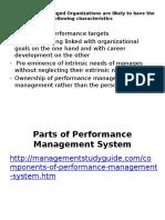 Concept of Performance Mangement