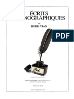 Boris Vian-Écrits pornographiques