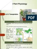 LU5 Transpiration