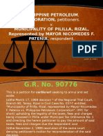 PHILIPPINE PETROLEUM, CORPORATION, petitioners. v.MUNICIPALITY OF PILILLA, RIZAL, Represented by MAYOR NICOMEDES F. PATENIA, respondent.