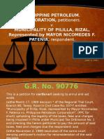 PHILIPPINE PETROLEUM, CORPORATION,petitioners. v.MUNICIPALITY OF PILILLA, RIZAL, Represented by MAYOR NICOMEDES F. PATENIA,respondent.