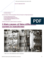 3 Main Causes of False Differential Current in Transformer _ EEP