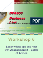BFA506 2015 Semester 1 Workshop 6.ppt