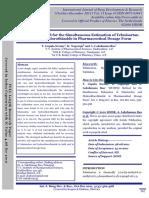 2011 - RP-HPLC Method for the Simultaneous Estimation of Telmisartan