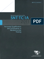 Recommended Practice SNT-TC-1A-2011 Nondestructive Testing_Part1