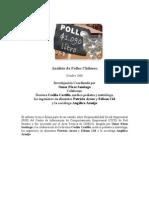 Analisis de Pollos en Chile, investigación coordinada por dra Cecilia Castillo y Omar Pérez Santiago