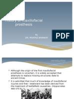 History of Maxillofacial Prosthesis